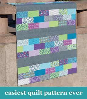 Easiest quilt pattern ever Here's one for you Jo for your strips ... : quick and easy quilts for beginners - Adamdwight.com