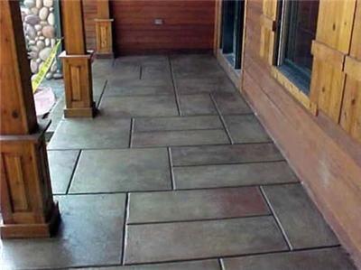 concrete patio front porch designs concrete patios windsor oh
