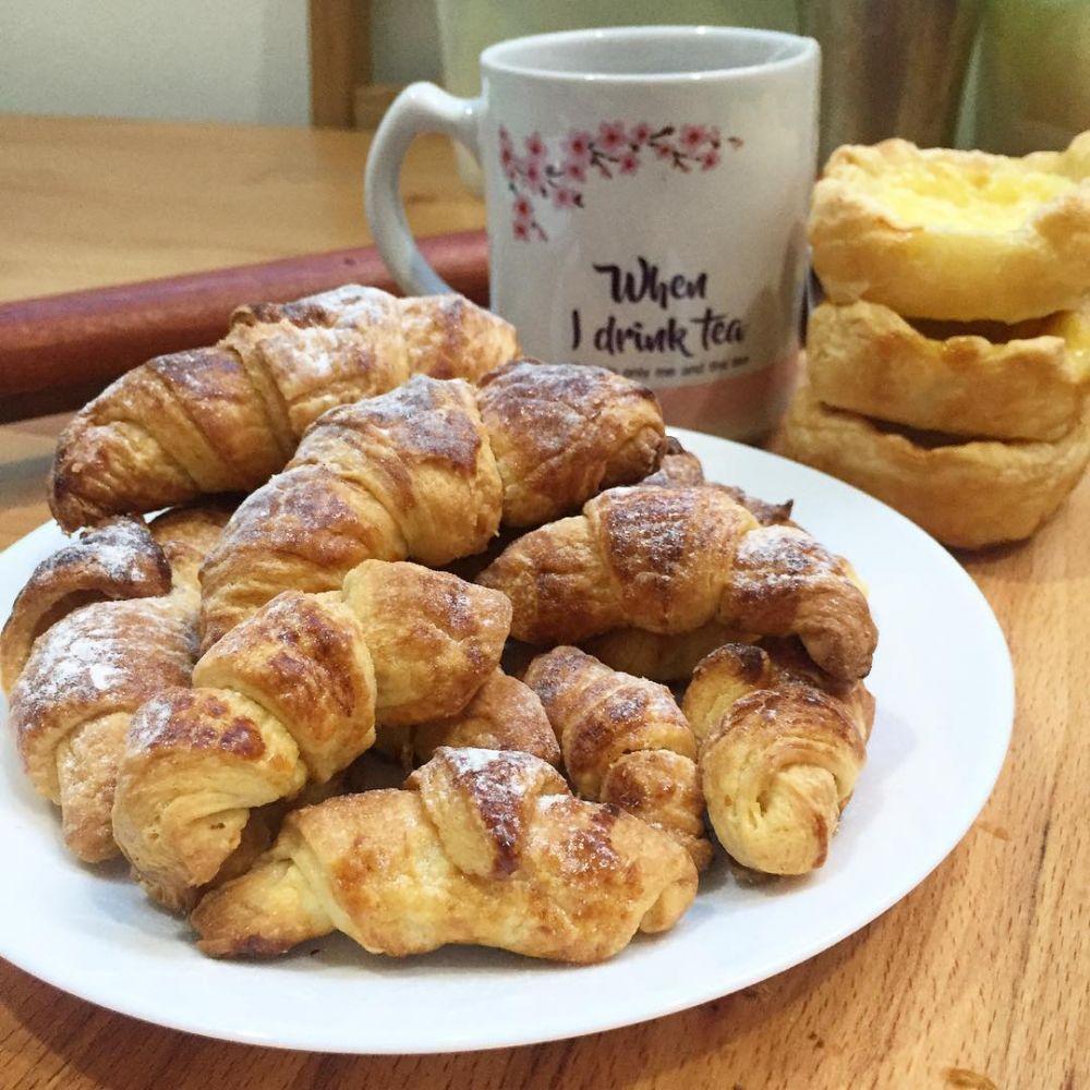 Resep Dan Cara Membuat Croissant Instagram Makanan Croissant Resep