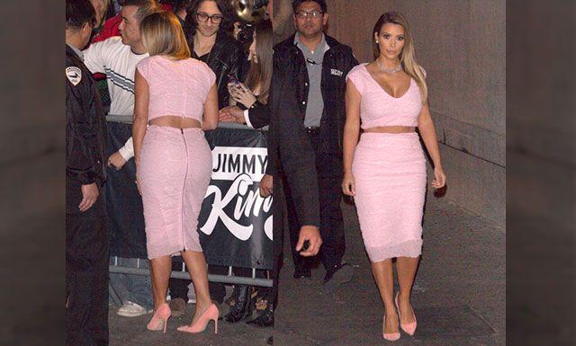 Kim Kardashian cortó en dos su vestido Dior