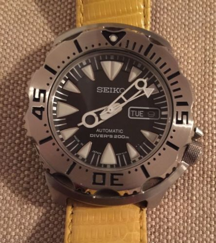 Seiko-Monster-Mod-Automatic-200M-Divers-Mens-Watch-SRP309K1