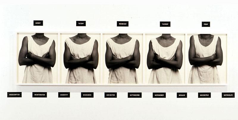 Lorna Simpson, Five Day Forecast, 1998 #MyEquipmentStyle