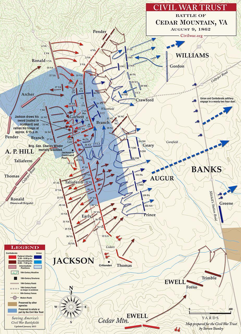 Cedar Mountain August 9 1862 War Between The States