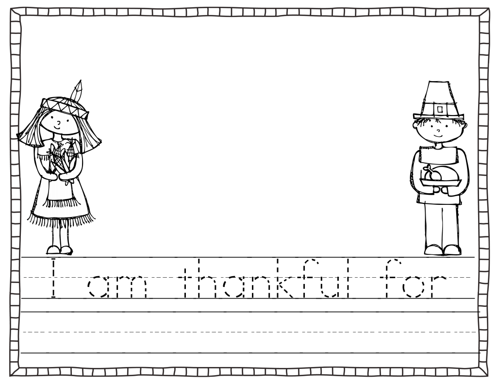Thankful Writing Template