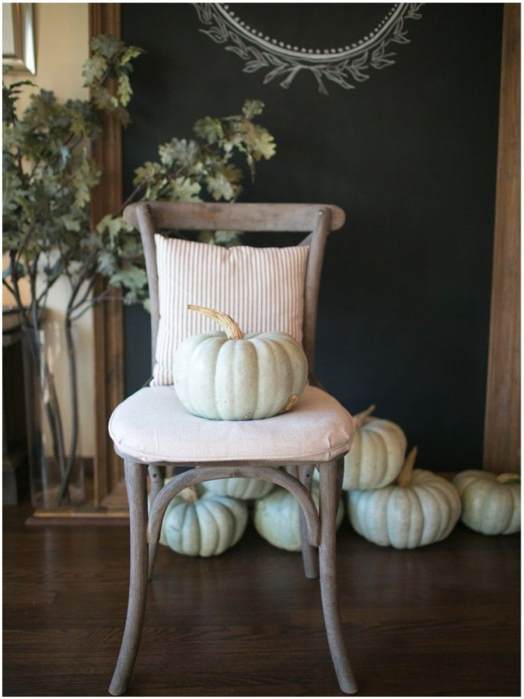 We can't get enough of these chic green pumpkins