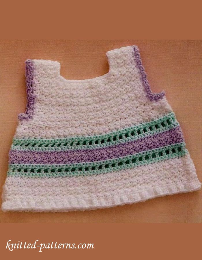 Baby top crochet free pattern | dresses | Pinterest | Ganchillo