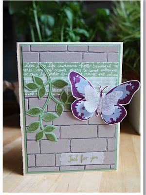 by Keksie: Match the Sketch No 80, Schmetterling, Butterfly, Karte