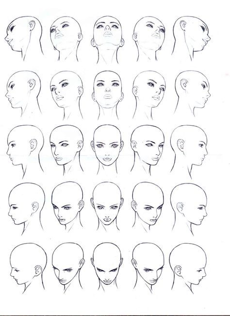 다양한 얼굴 각도 イラスト pinterest drawings drawing