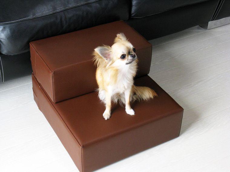 ペット用踏み台 階段 4段 ステップ 折り畳み可能 子犬 老犬 胴長短足 犬猫用 ペット 犬 子犬