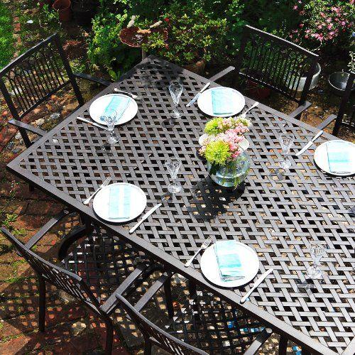 Salon De Jardin Aluminium Table Rectangulaire Sophia 20 Https Www Amazon Fr Dp B009usfsnw Ref Cm Sw R Salon De Jardin Aluminium Salon De Jardin Jardins
