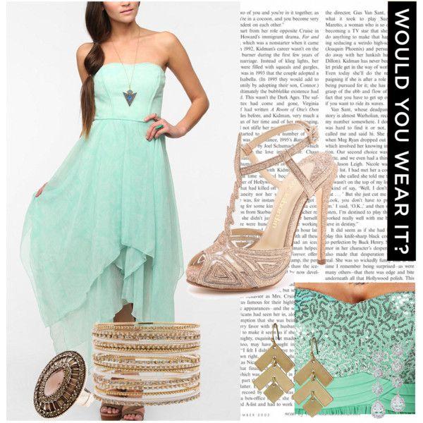 Complementos para vestido color verde