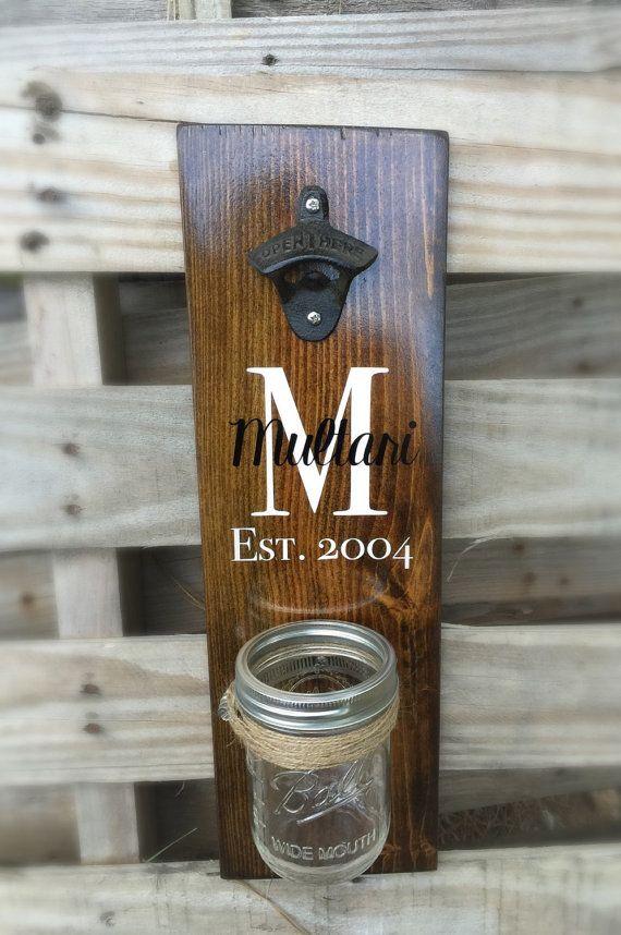 Unique Wooden Wall Mount Bottle Opener