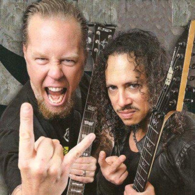 Metallica~ Kirk and James