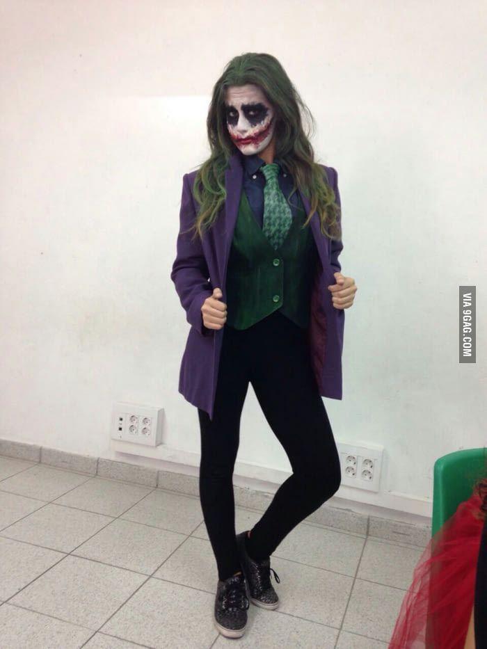 I present you miss joker makeup by me and that 39 s me - Disfraz joker casero ...