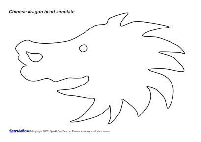 Chinese Dragon Head Template Sb2032 Sparklebox Chinese
