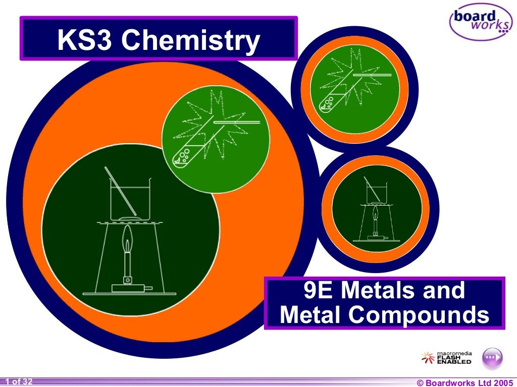 9 e rcts of metals & metal cmpds (boardworks) by Preeti Ghosh via slideshare