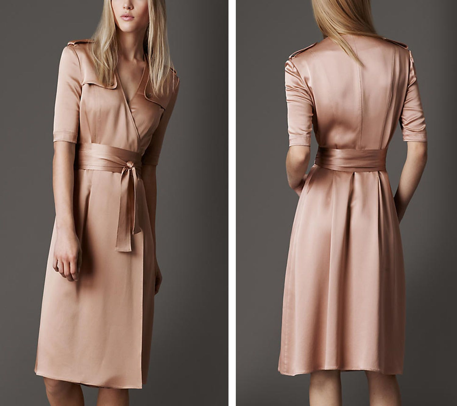 Burberry Silk Trench Wrap Dress as Women Fashion Collection | More ...