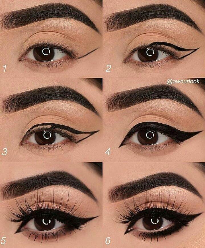 Cc @theemakeupgram - Anleitung zum Schminken von Augen - drop ® √ • ••... #eye #eyemakeup #makeup #augenmakeup #make-upideen