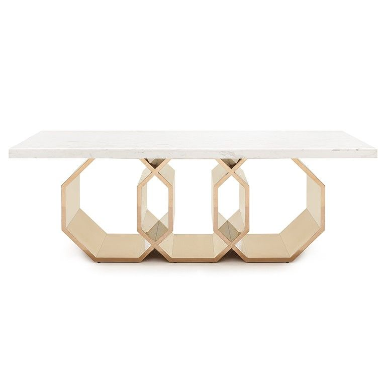 CONSOLLE MATHIS SKU Side table with chromium plated metal