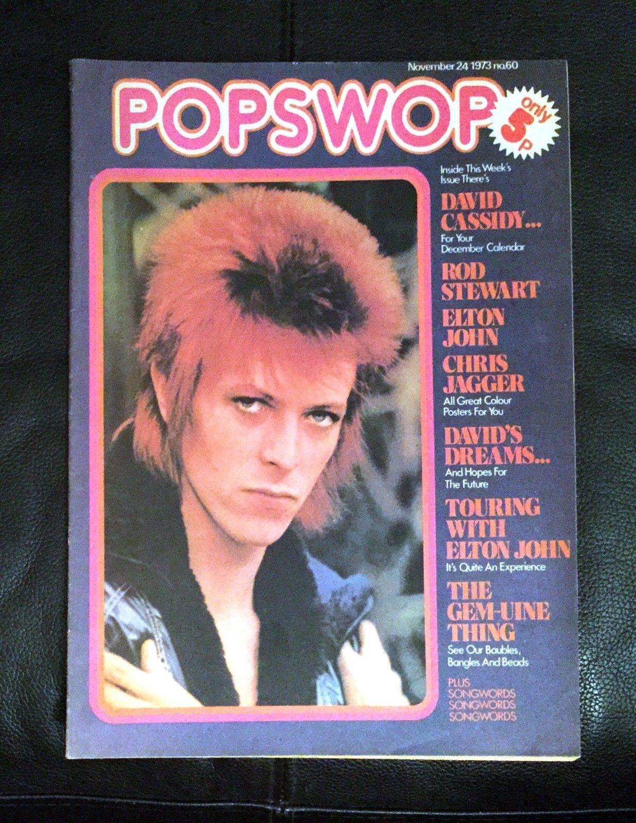 Popswop 1973 David Cassidy Elton John David Bowie Rod Stewart