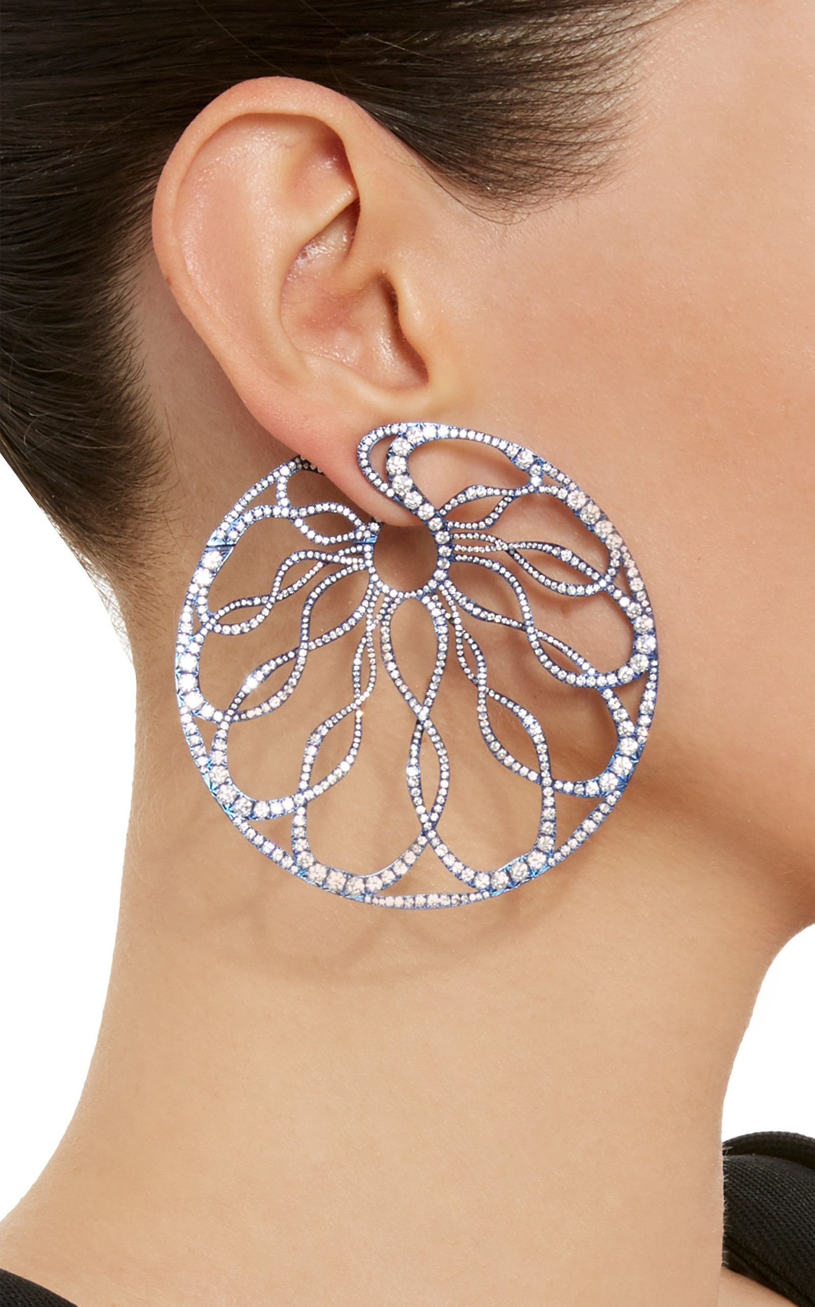 Arunashi e A Kind Diamond Hoop Earrings $88 000