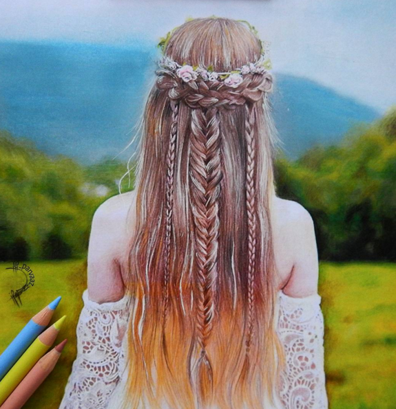 stunning colored pencils drawing