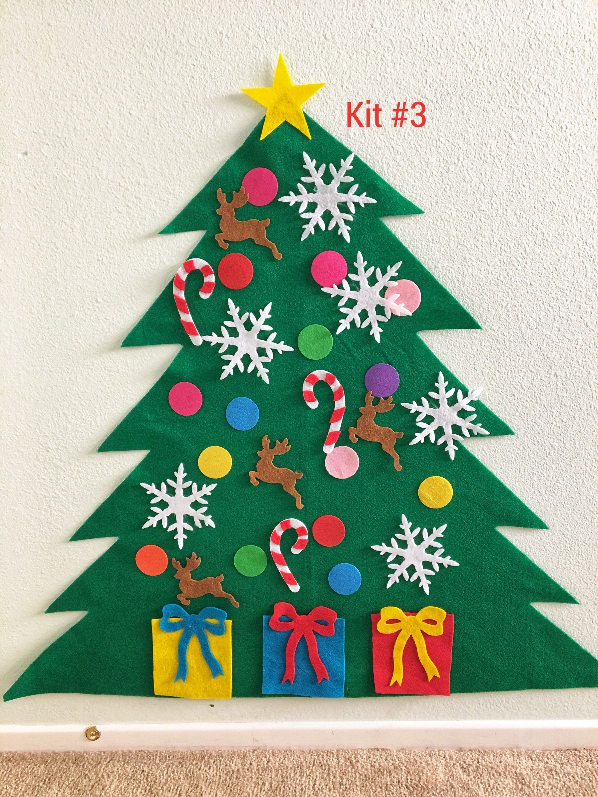 Sale Felt Christmas Tree Kit Etsy Diy christmas