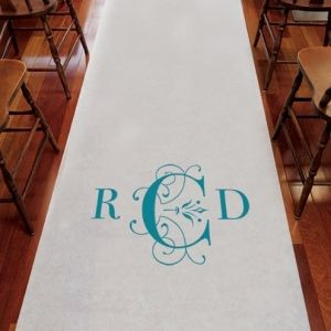 Le tapis d église personnalisé monogramme classique déco