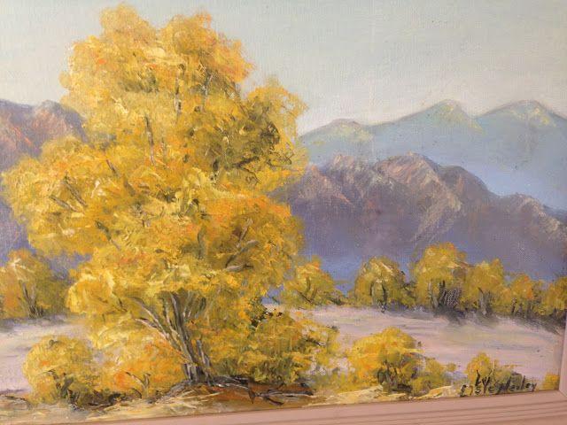 1960's Elsie Nerley Palo Verde Painting Victorville Desert