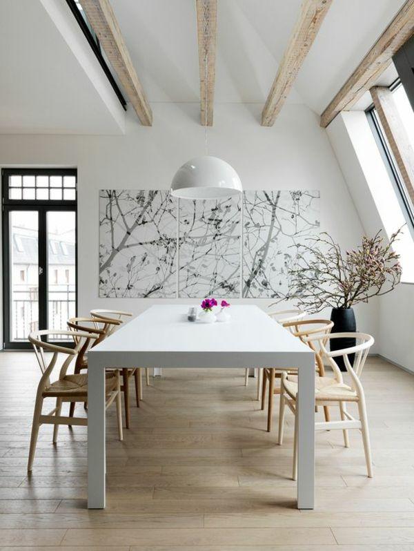 Uberlegen Esszimmer Gestalten Schöne Und Moderne Einrichtungsideen Weißer Esstisch