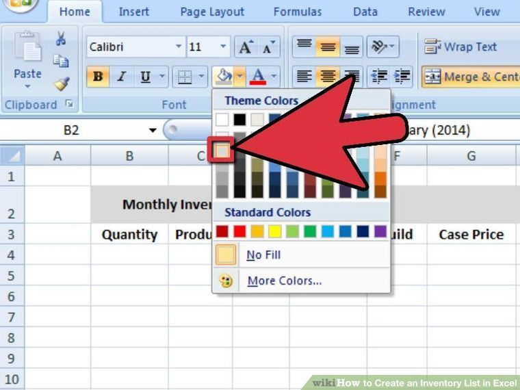 Office Inventory List 4 Ways To Create An Inventory List In Excel  Wikihow  Work  Pinterest