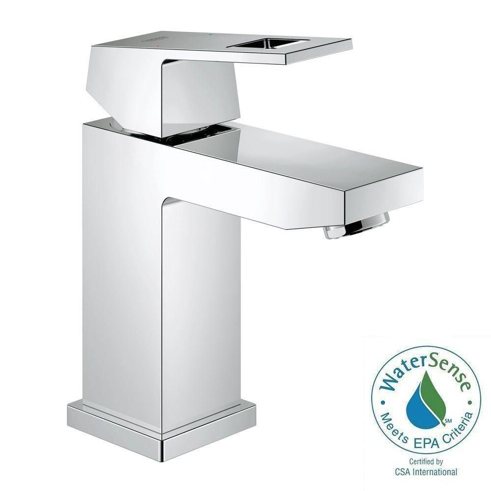 GROHE Eurocube Single Hole Single-Handle Bathroom Faucet in ...