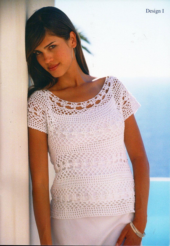 Womens crochet top crochet pattern lacy crochet sweater 32-42 inch 4 ...
