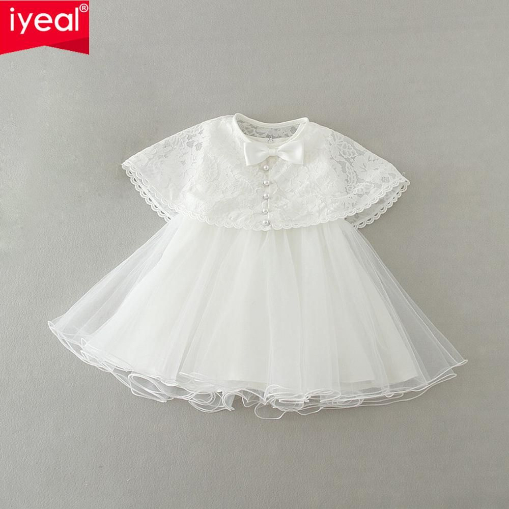 Iyeal new infant baby girls year birthday dress with lace