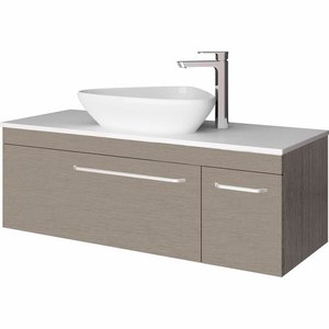 Wall Hung Vanity W 1200mm H 418 D 460mm Hotham Oak In 2020 Wall Hung Vanity Vanity Bathroom Vanity