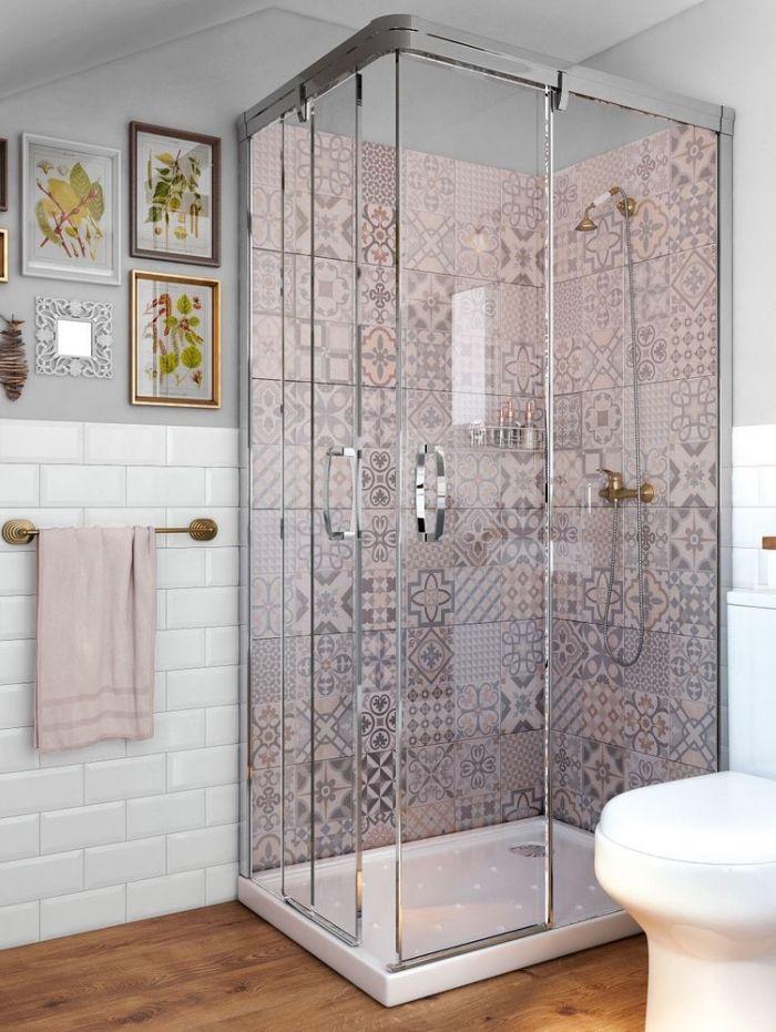 1001 id es pour am nager une salle de bain en carreaux - Volume d eau pour une douche ...