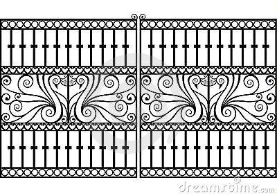 Wrought Iron Fence Or Gate Vector Eps Wrought Iron Fences Iron
