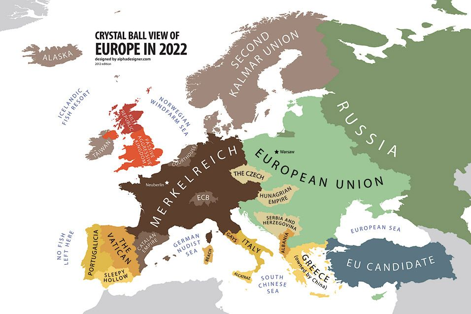 Europe According to the Future LAND OF MAPS Pinterest