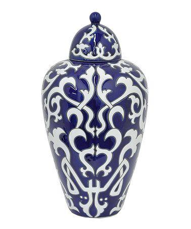 Look at this #zulilyfind! 16'' Porcelain Covered Jar #zulilyfinds