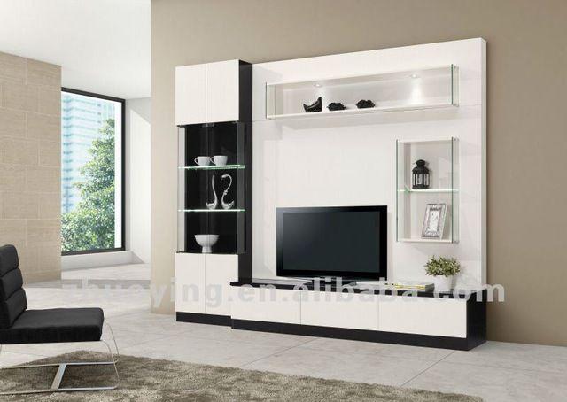 Source Modern wooden wall unit design furniture FA17B on mibaba