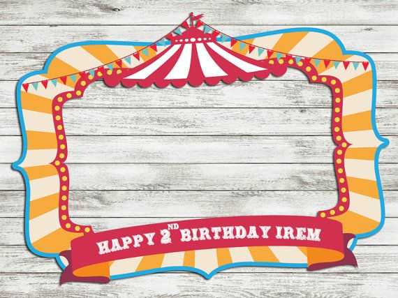 birthday party photo booth frame - Customize photo booth props ...