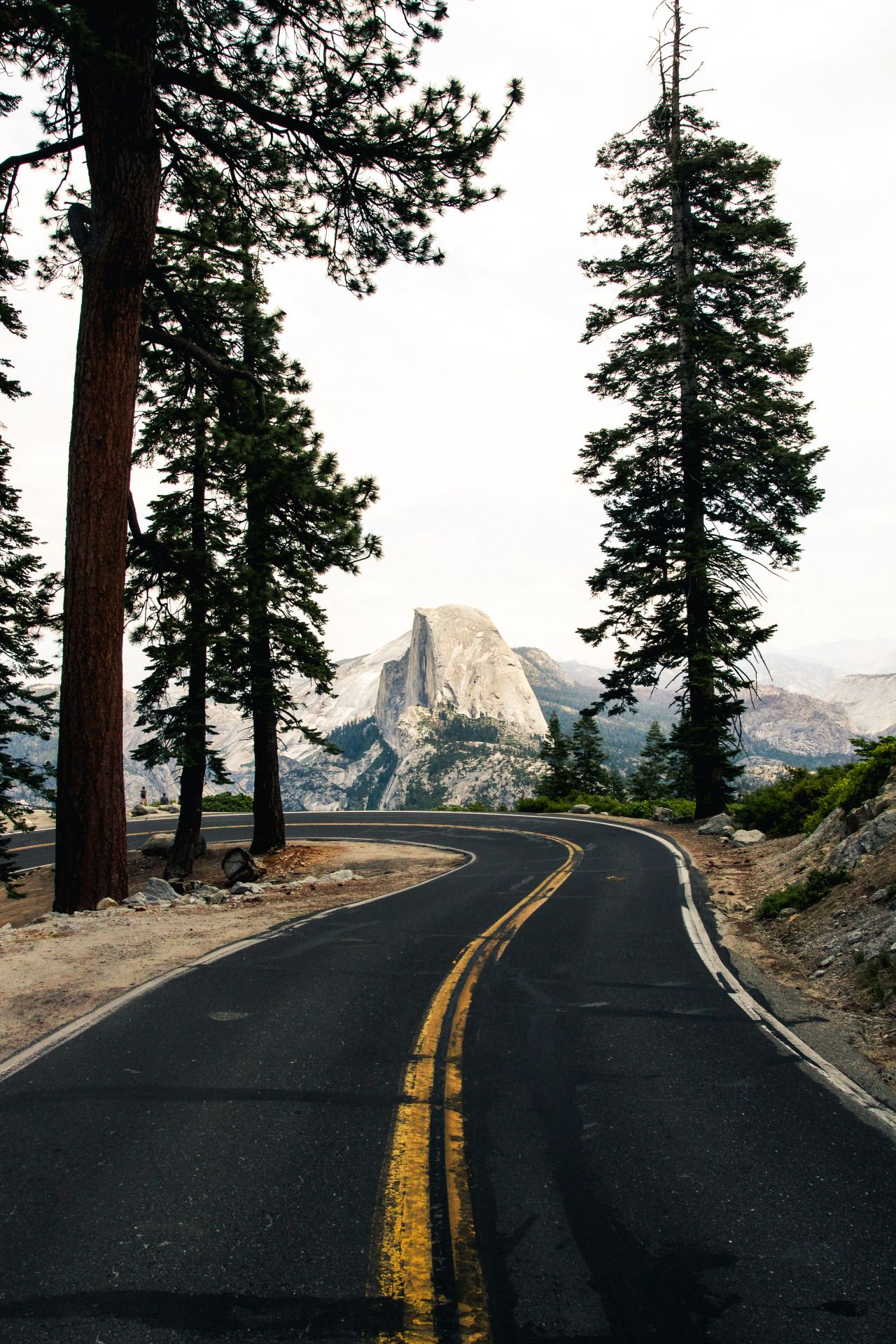 Glacier Point Road, Yosemite Fantasy Road Trip Road Trip Road Road photo on the road drive travel wanderlust bucket list landscape photography photographer ...