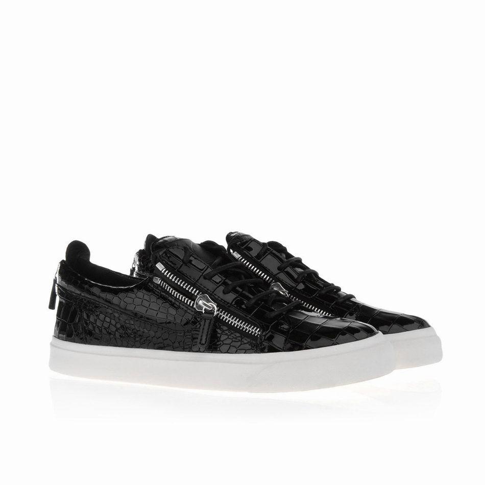 Giuseppe Zanotti Mens Low Cut Croc Zip Sneakers RDU305 002 Model:  gzmenshoes033 580 Units in
