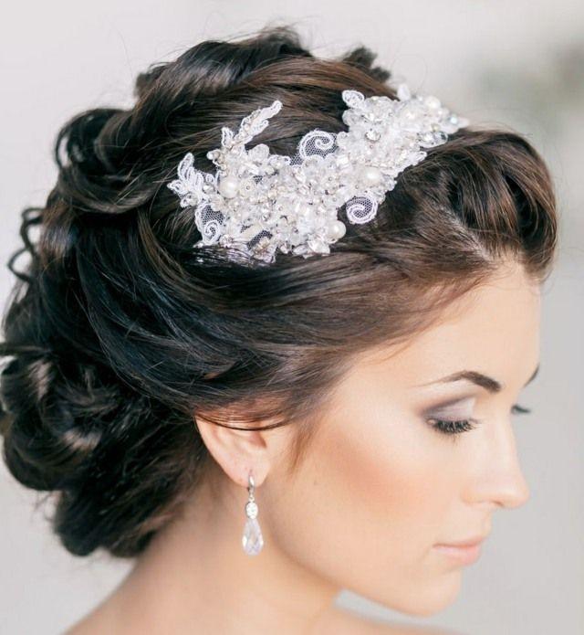 Coiffure de mariage cheveux court avec diademe