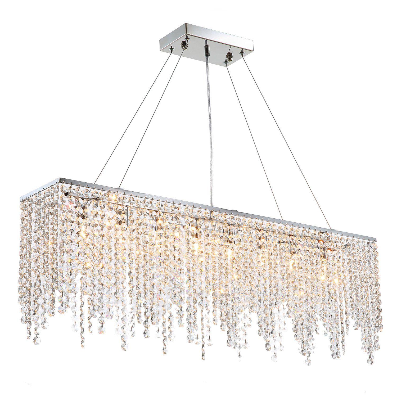 Raindrop Island Chandelier Crystal Pendant Light In 2021 Modern Crystal Chandelier Contemporary Crystal Chandelier Crystal Chandelier Dining Room