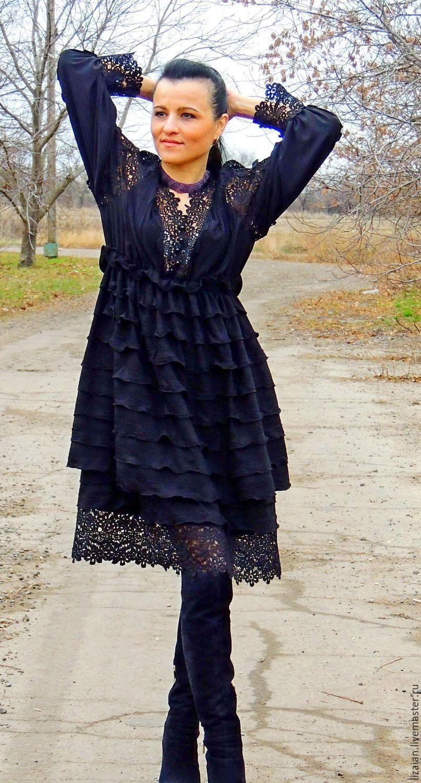 Теплое платье бохо купить в