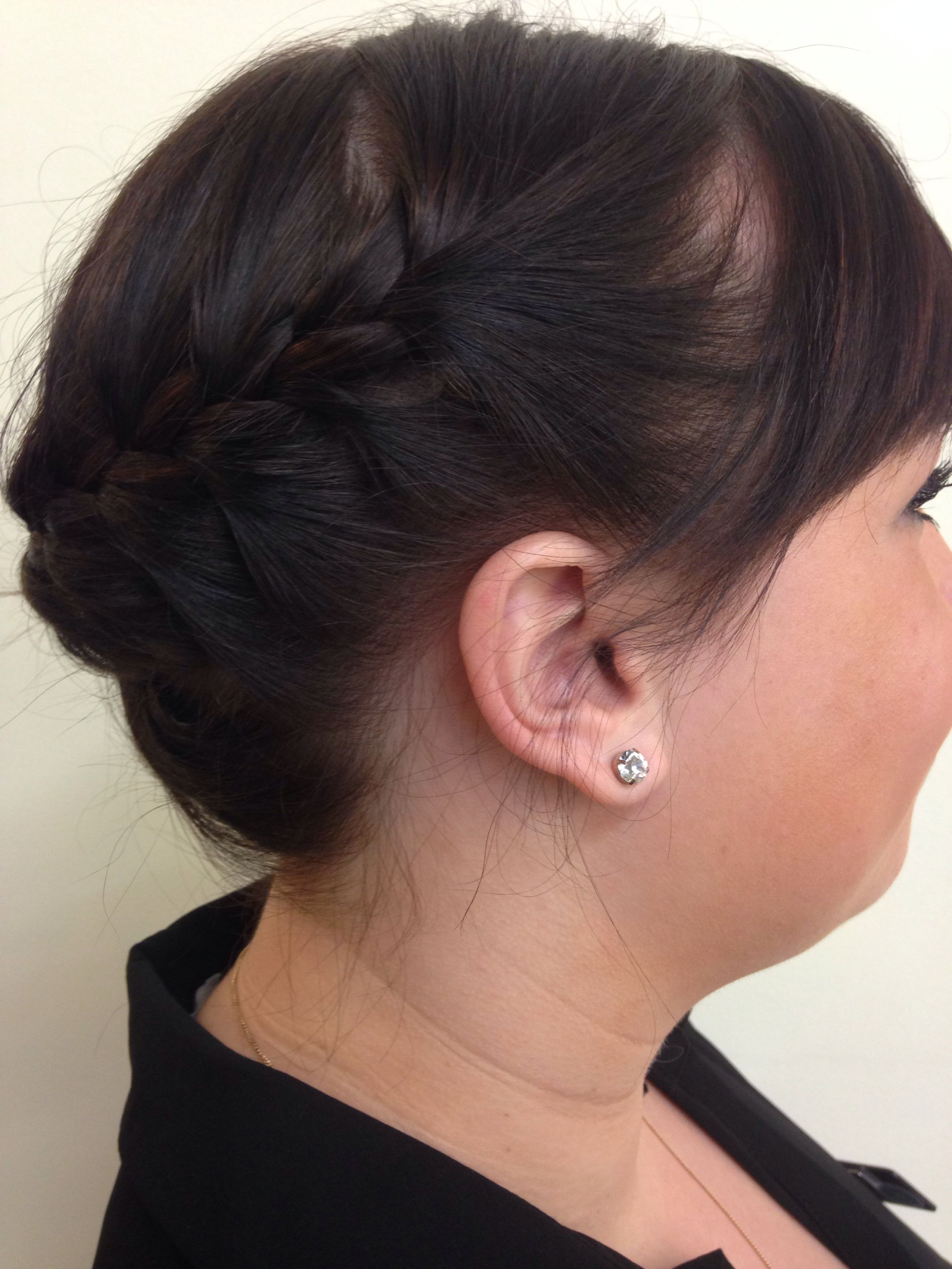 overhand braid model | carter/editorial styling | diamond