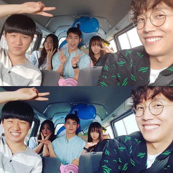 Kim So Hyun Shares Cute Group Shots With Bring It On Ghost Cast Including Taecyeon And More Bring It On Ghost Lets Fight Ghost Taecyeon