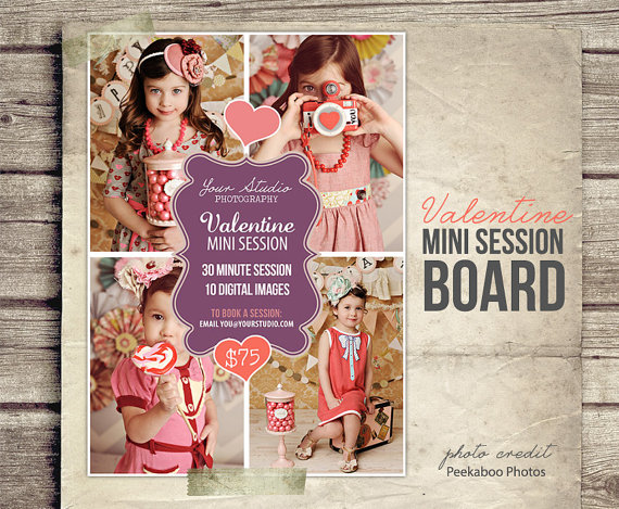 Pin By Ileana Ortiz On Templates For Photographers Valentine Mini Session Holiday Photo Session Mini Session Template