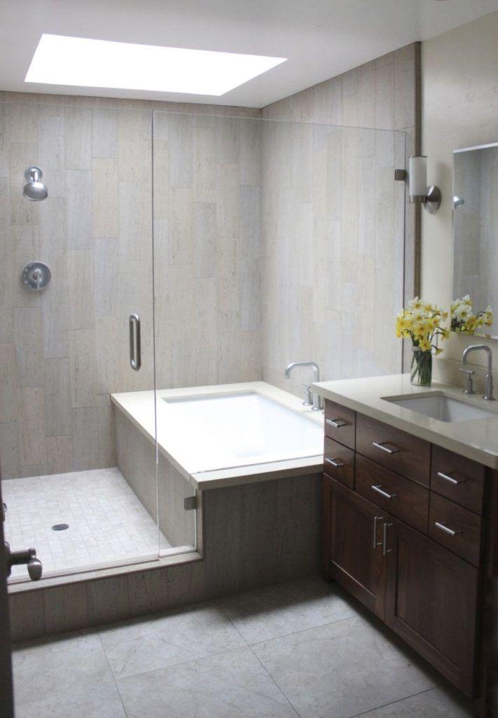 Elegant Modern Shower Tub Combo